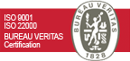 Certification ISO 9001, ISO 22000, Bureau Veritas